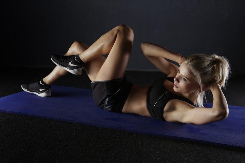 woman, crunches, sport